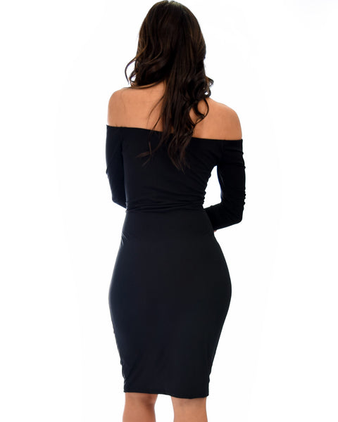 Off Shoulder Pencil Dresses