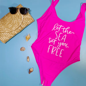 DIY Swimsuit with Color Chimp Stretch HTV + A Free Hand-Lettered Cut File