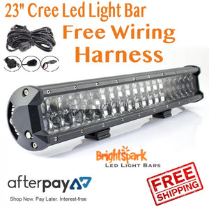 "23"" 228 WATT Cree Led Light Bar and wiring harness - BrightSparkLedCo"