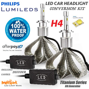9003 H4 Philips Titanium Led Headlight, 6th Generation - BrightSparkLedCo