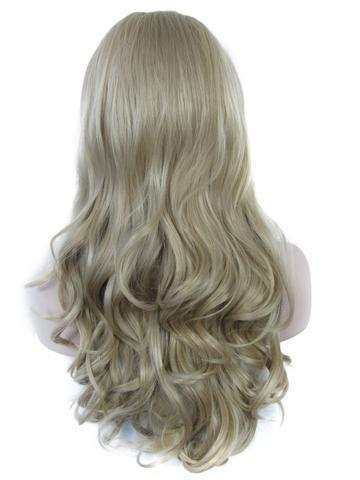 Long Ash Blonde #M16/613 Wave Synthetic Lace Front Wig - FashionLoveHunter