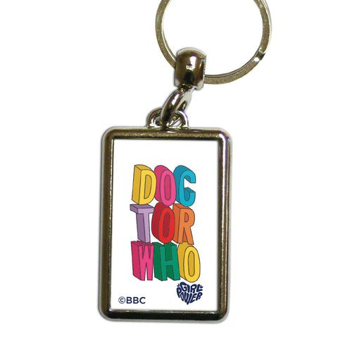 Thirteenth Doctor Stacked Metal Keyring