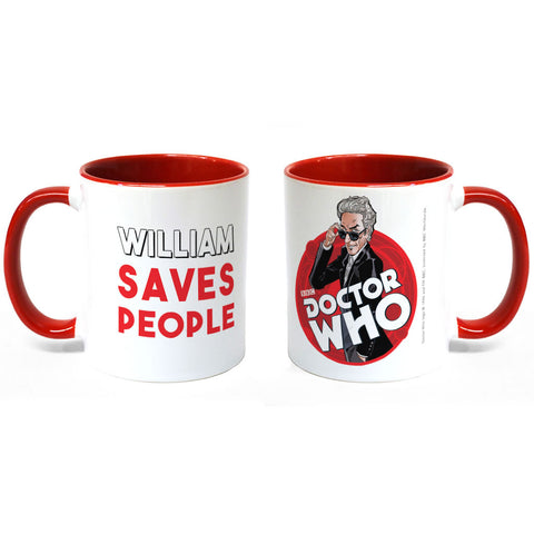 Twelfth Doctor Personalised Colour Insert Mug