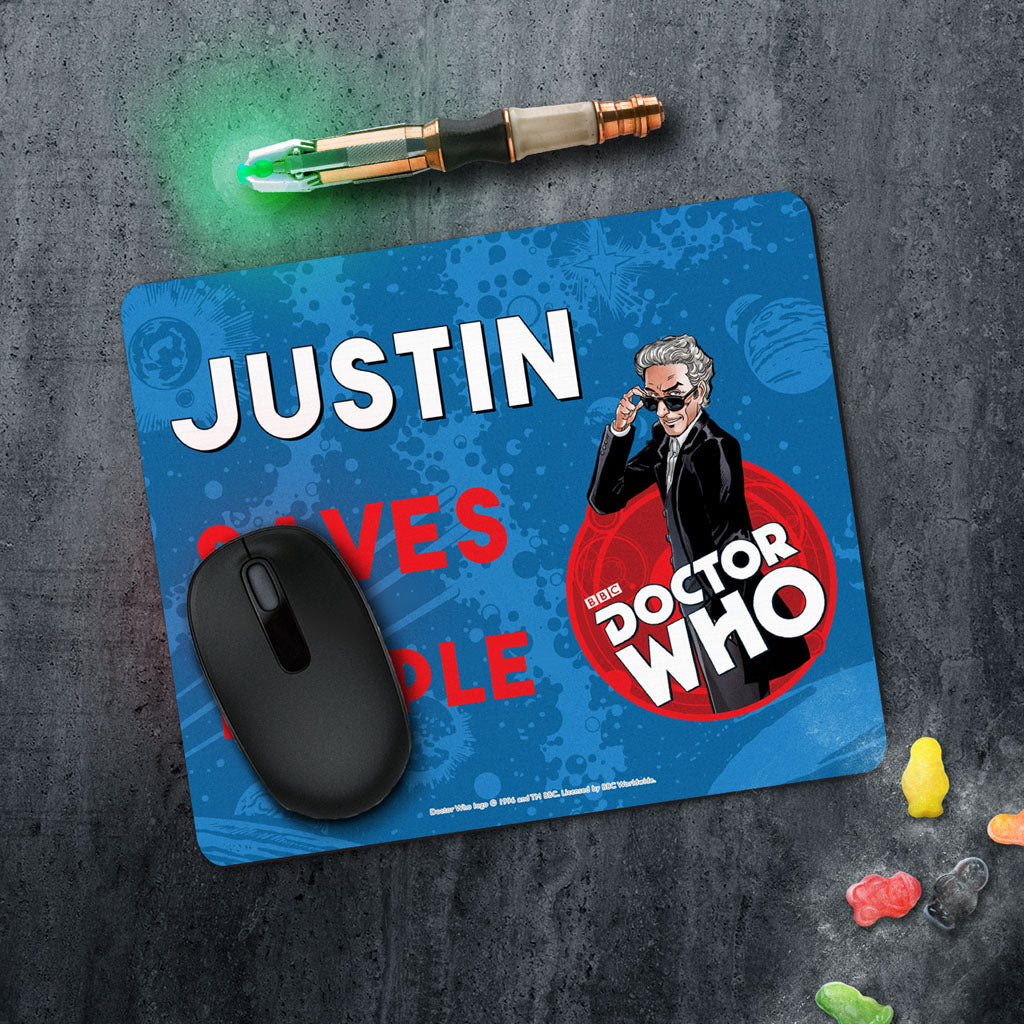 Twelfth Doctor Personalised Mousemat (Lifestyle)