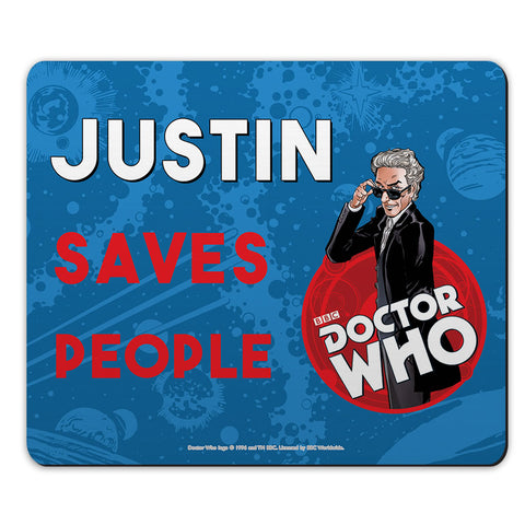 Twelfth Doctor Personalised Mousemat