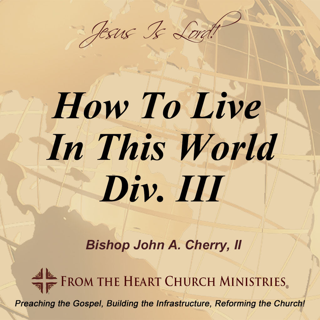 How To Live In This World Div. III
