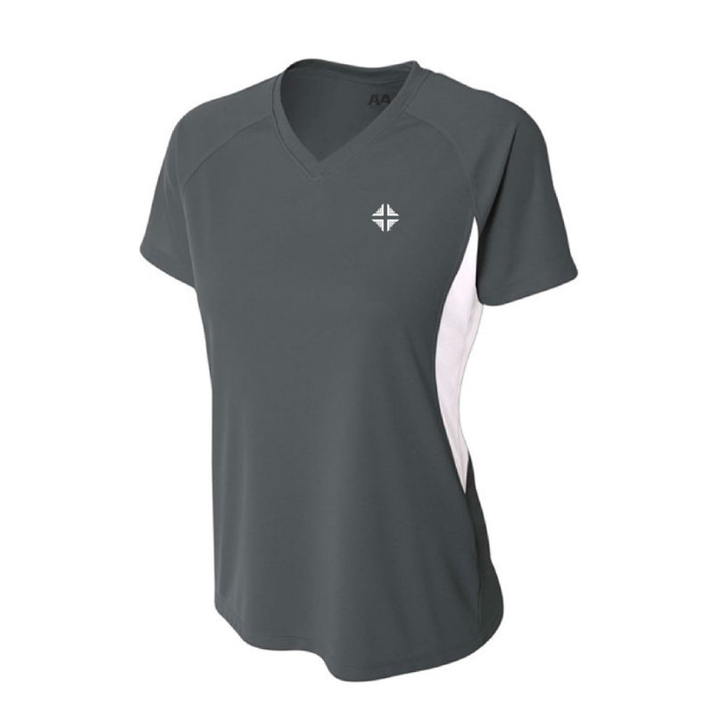 Shirt: Performance Female Short Sleeve Gray DV
