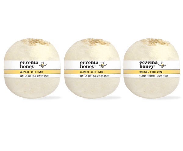 Eczema Honey Oatmeal Bath Bomb, Set of 3