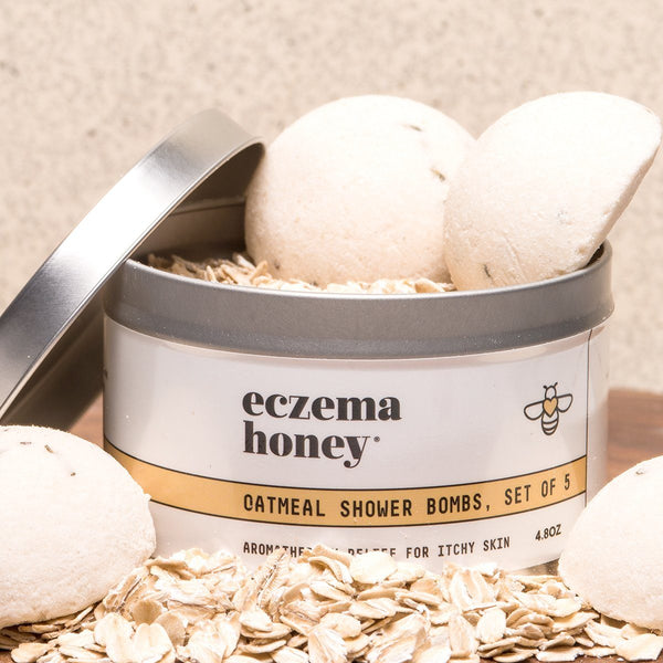 Eczema Honey Oatmeal Shower Bombs, Set of 5