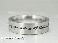 Memorial Signature Ring, Custom Handwriting Ring, Handwritten Jewelry