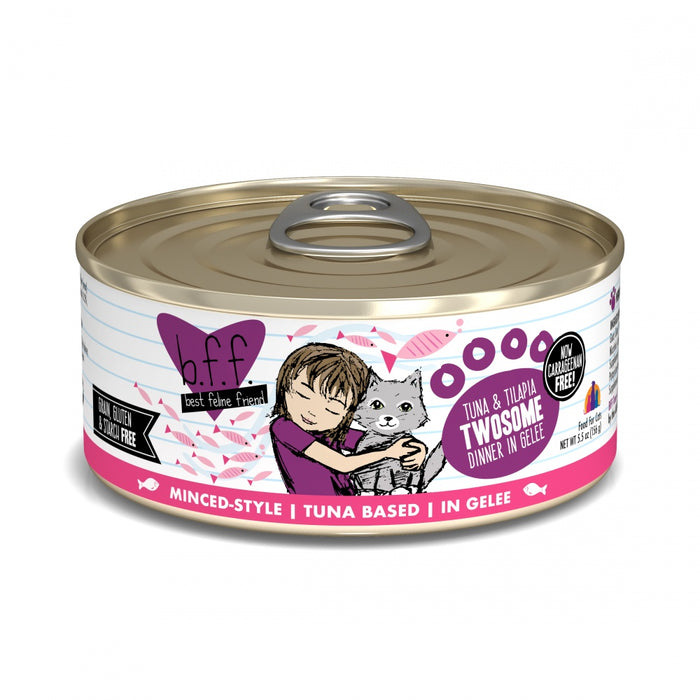 Weruva BFF Tuna and Tilapia Twosome in Gelee Canned Cat Food