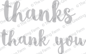 Thanks & Thank You - Die Cuts