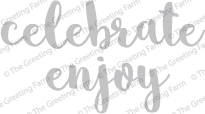 Celebrate & Enjoy - Die Cuts