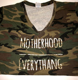 Motherhood Over Everythang Vneck