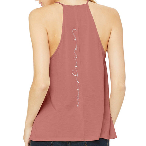 'COURAGEOUS' Flowy High Neck Tank