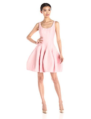 Halston Sleeveless Dress with Tulip Skirt- Robe cocktail - Pink