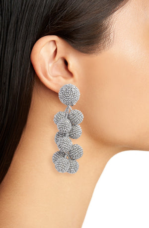 SACHIN & BABI Coconut Earrings Red Pendants d'oreilles