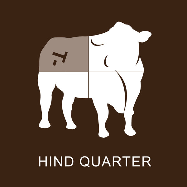 Richards Grassfed Beef Hind 1/4 Steer Pack #1 - 99 Lbs