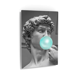 Michelangelo Statue of DavidBubble Gum Canvas Print Metal Print