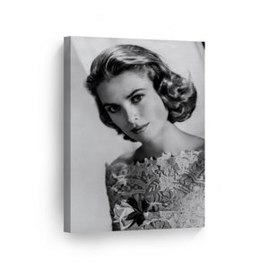 Princess Grace Kelly Black and White Iconic Canvas Print Metal Print
