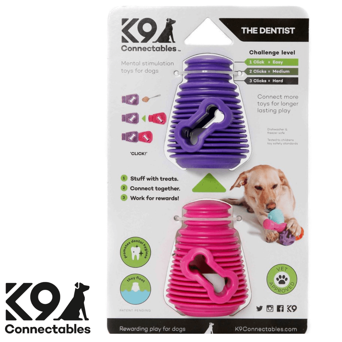K9 Connectables Australia - The Denist Purple Pink