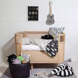 Black White Stuffed Crocodile Bed Protector Bed Bumper  - Lollabuy