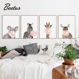 Bubble Gum Animals Poster Colelction Posters - Lollabuy