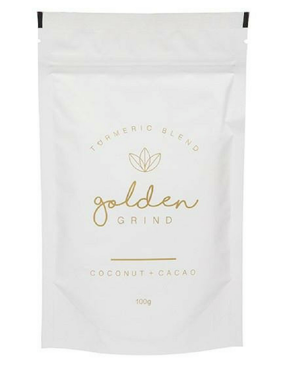Golden Grind - Turmeric Hot Chocolate Blend - The-WellnessCo.