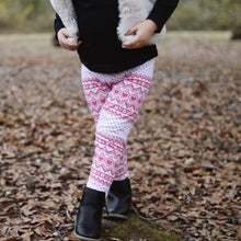 Holiday Hearts Leggings // kids