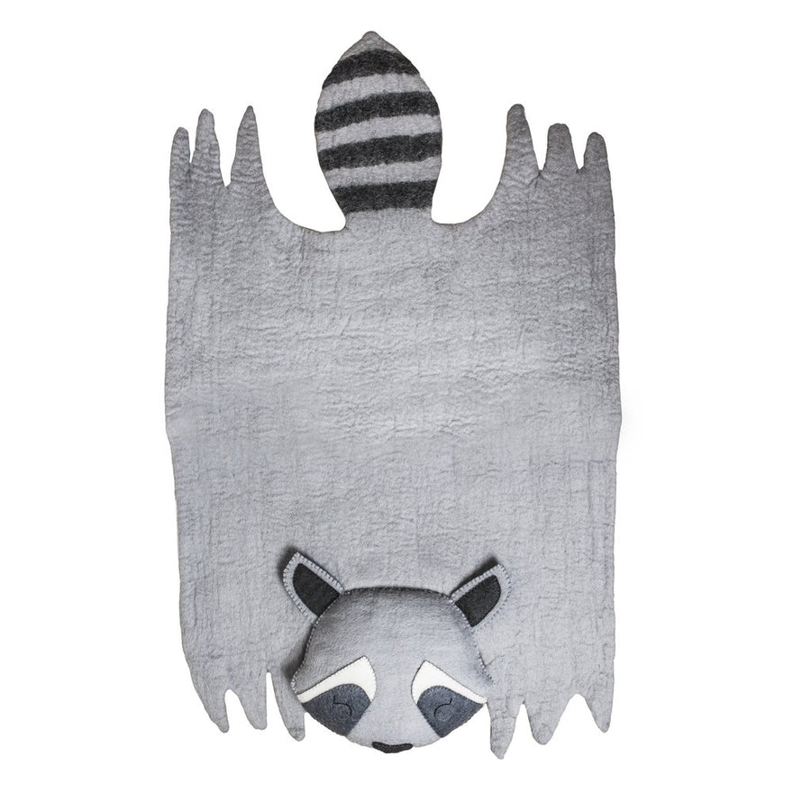 Felt Area Rug - Raccoon