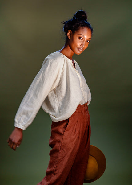 The Peasant Top | Linen