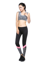 Women's New Arrival Fitness High Waist Cutout With Side Pink Splice Mesh Leggings