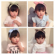 Baby kids Girls Bow Hairband Turban Knot Rabbit Ear Headband Cotton Headwear