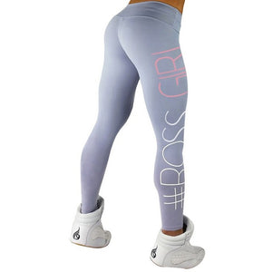 Women's Letter Printed Workout Push Up Plus Size Leggings