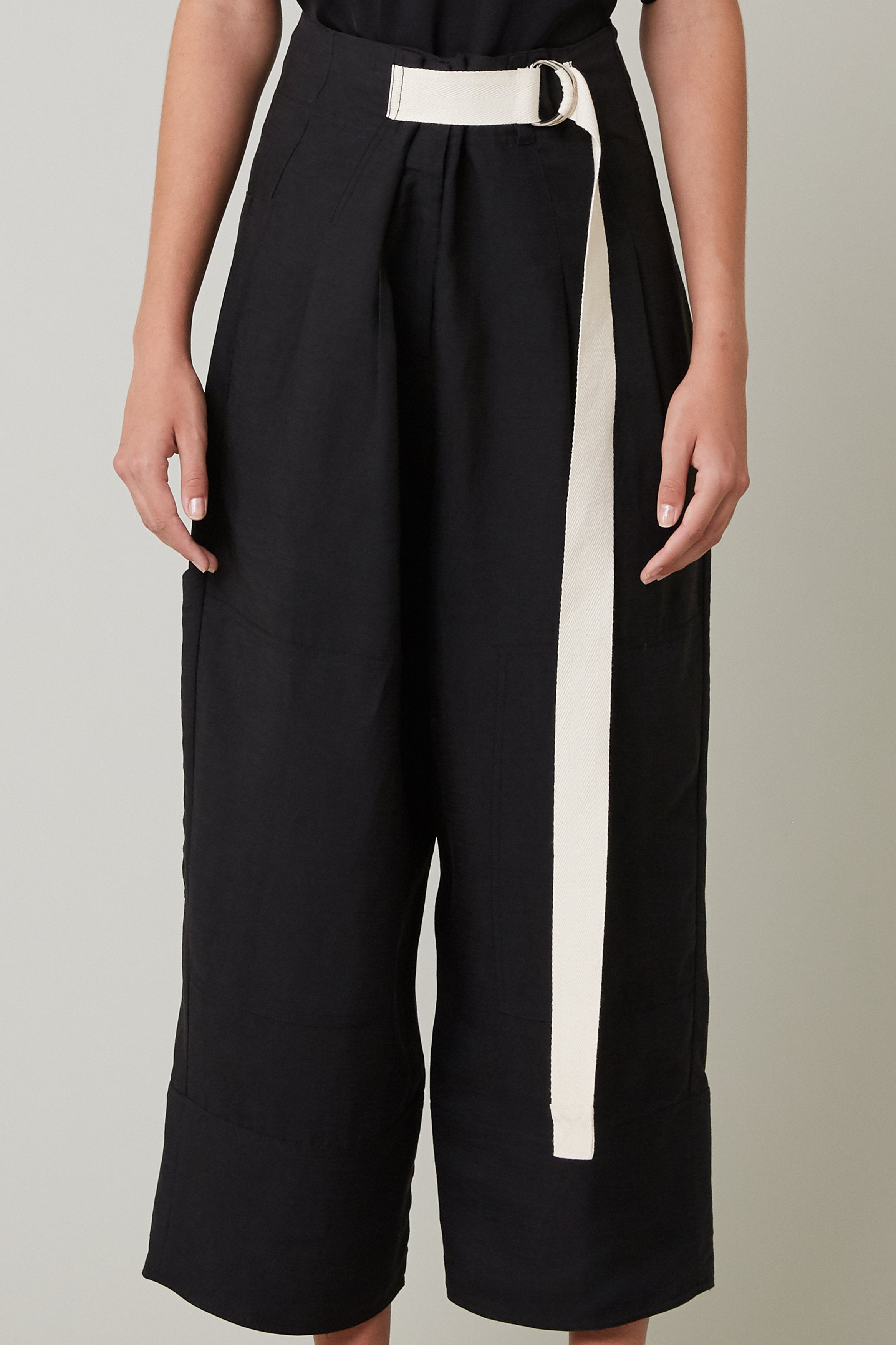 Lee Mathews | Virginia Pleat Pants in Black