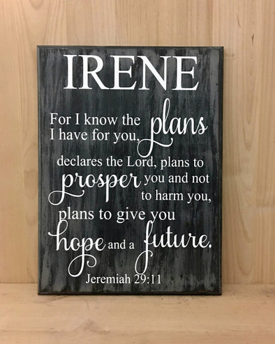 Personalized religious wood sign makes a great confirmation gift.