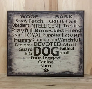 Dog wood sign