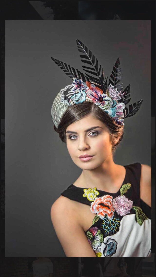 Halo Crown ~ Black~White~Floral