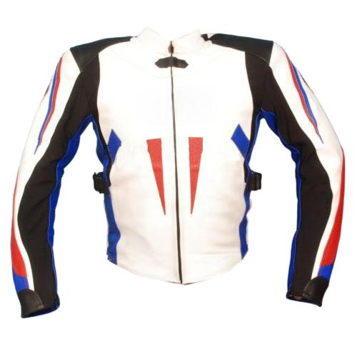 Leather Skin Men White Biker Motorcycle Genuine Leather Jacket
