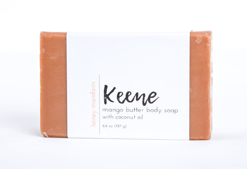 With three all-natural moisturizing butters - cocoa, mango, and shea - our body soap will quickly become part of your skincare routine.