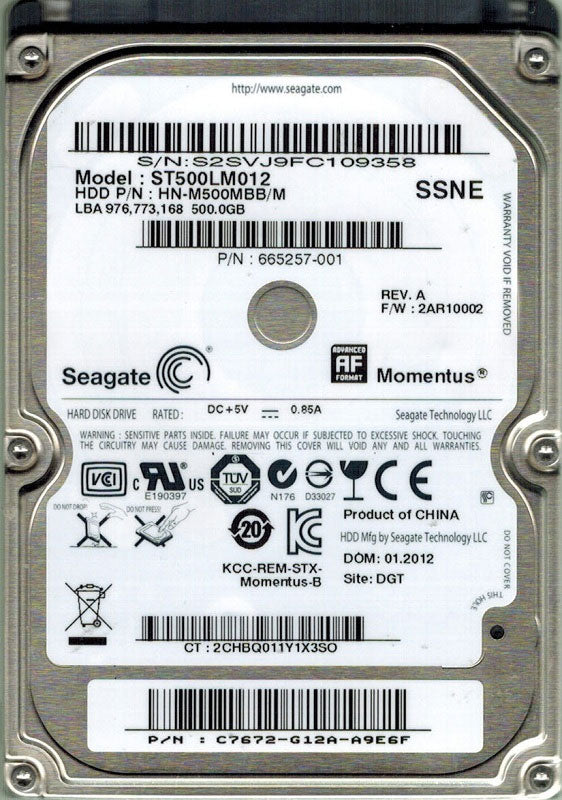 Compaq Presario CQ40-425TX Hard Drive 500GB Upgrade