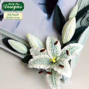 C - Craft Idea using the Flower Pro Lily Mould and Veiner