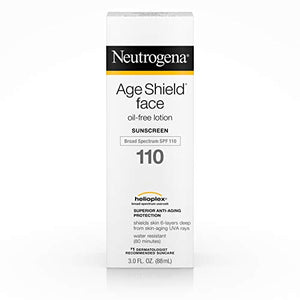 Neutrogena Age Shield Face Sunscreen Oil-Free Lotion, Broad Spectrum SPF 110 - 3 oz
