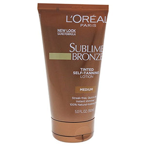 L'Oreal  Body Expertise Sublime Bronze Self-Tanning Lotion Tinted, Medium Natural Tan - 150 ml.