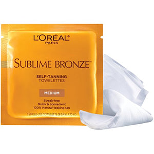 Loreal dermo expertise sublime bronze self-tanning towelettes, medium - 1 ea.