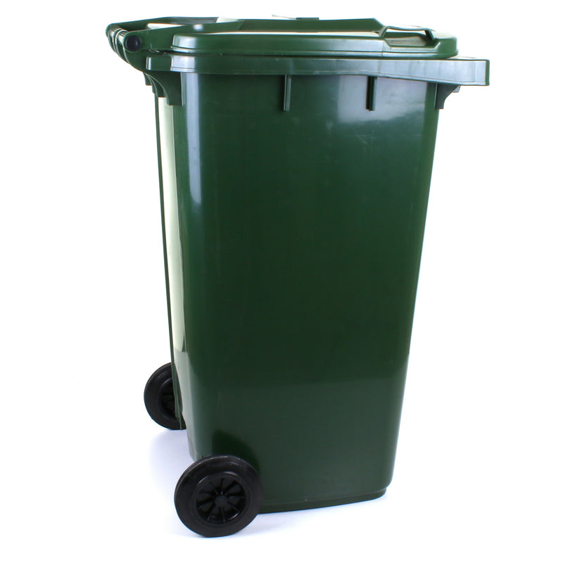 240L Wheelie Bin - Dark Green