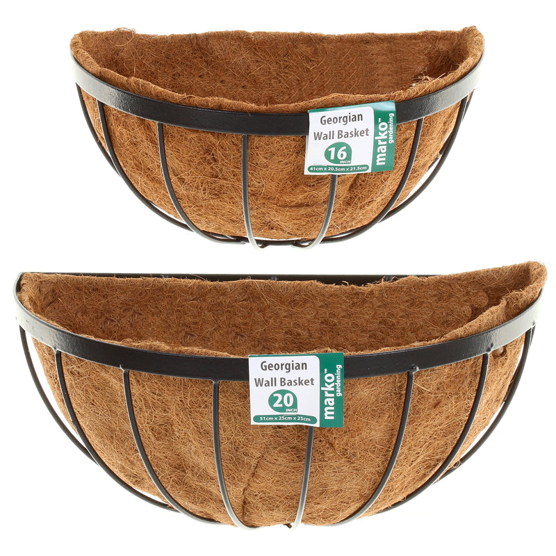 Half Round Georgian Wall Baskets