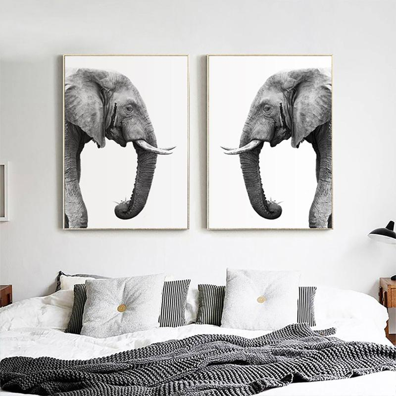 Elephant Twin Canvas Wall Art