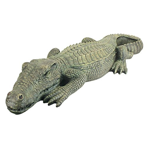 Alligator Crocodile Garden Sculpture | The Swamp Beast Lawn , 37 Inch, Polyresin, Full Color