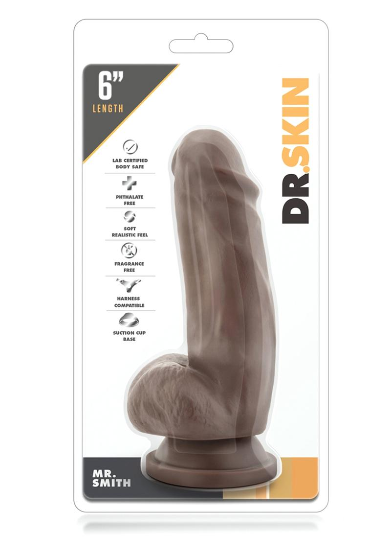 Dr Skin Mr Smith Realistic Dildo Chocolate 7 Inch